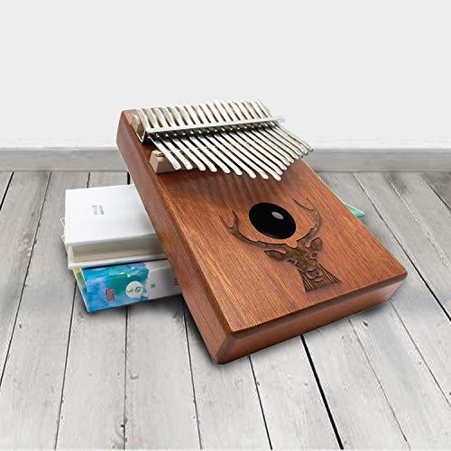 Kalimba Daumenklavier Instrument,17 Schlüssel,Stimmhammer für Musikliebhaber...