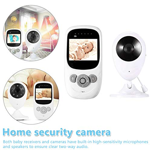 NoyoKere 1080P 2,4-Zoll-Farb-Babyphone mit Zwei-Wege-Audio-Temperaturanzeige,...