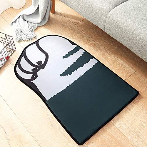 Zun068 Badteppiche Kurzarm langsam Rückprall wasserabsorbierend Fußmatte Home...