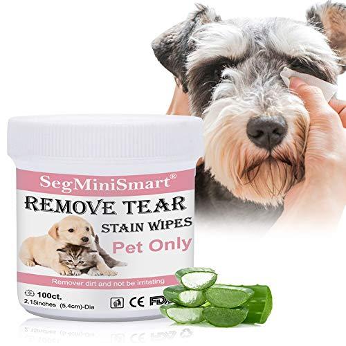 SEGMINISMART Augen-Reinigungspads für Hunde und Katzen 100 Stück, Milde...