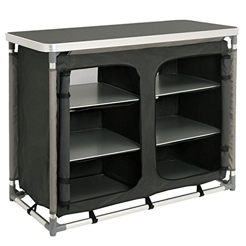 CampFeuer - Campingschrank, Campingküche mit Aluminiumgestell, ca. (L) 102 cm x...