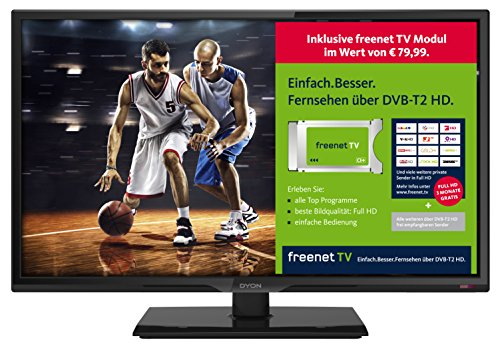 DYON Live 24C freenet TV Edition 60 cm (23,6 Zoll) Fernseher (Full-HD, Triple...