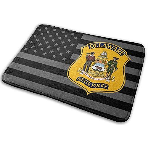 Liumt Delaware State Police Fußmatte rutschfeste Badematte Badezimmer Küche...