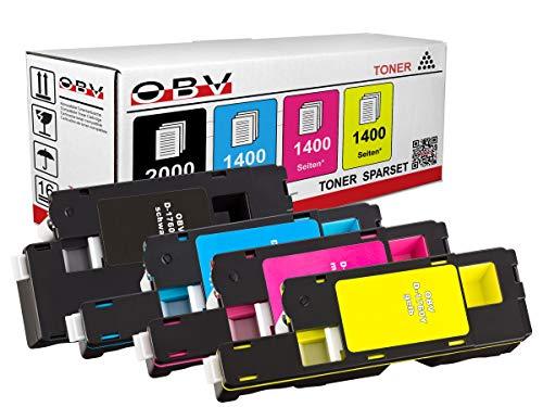 4 x Kompatibler Toner für Dell C1760 C1765 C1760nw C1765nf C1765nfw schwarz,...