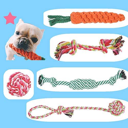 BUYGOO 5PCS Hundespielzeug Seil Kauspielzeug - Hunde Spielzeug Seil Interaktive...