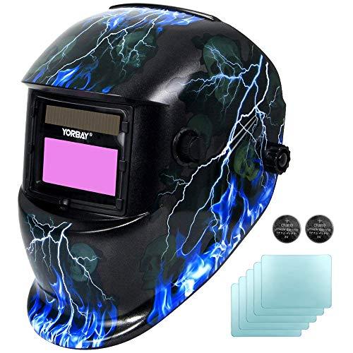 Yorbay® Solar Automatisch verdunkelnd Schweißhelm Schweißmaske mit 5 Stück...