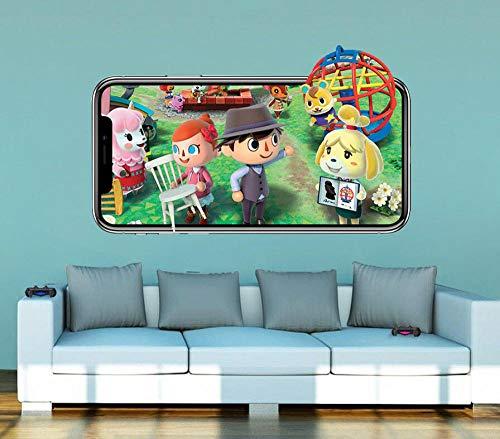 Wandtattoo Animal Crossing Wandtattoo Video 3D Aufkleber Dekoration Wandbild...