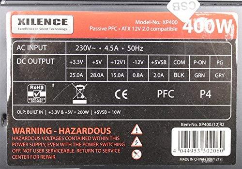 Xilence XP400 400W (XP400.(12) R2) ATX Netzteil 400 Watt #153854