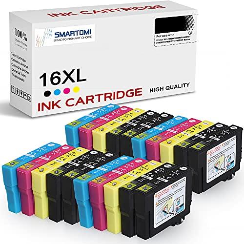 SMARTOMI 16XL Tintenpatronen Kompatibel für Epson 16XL für Epson Workforce...