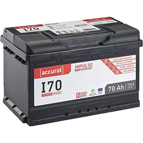 Accurat 12V Autobatterie 70Ah 720A EFB Impulse I70 Starterbatterie für...