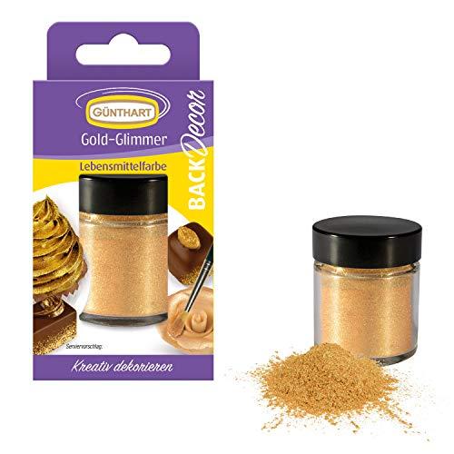 Günthart Back & Decor 7g | Essbares GOLD Puder | Lebensmittelfarbpuder | Gold...