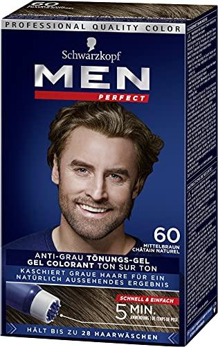 Men Perfect Schwarzkopf 60 Haartönung Natur mittelbraun hochwertige Haarfarbe...