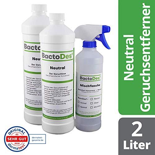 BactoDes Neutral | Geruchsneutrales, vielfältiges Geruchsentferner-Konzentrat |...