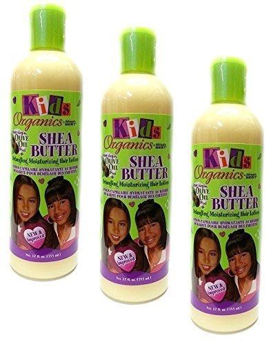 3x Africa's Best Kids Shea Butter Detangling Moisturizing Hair Lotion 355ml...