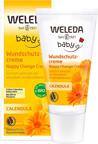 WELEDA Baby Calendula Wundschutzcreme / Babycreme, Naturkosmetik Wundsalbe für...