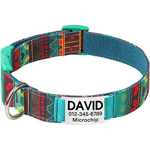 Vcalabashor Personalisiertes Hundehalsband mit Hundename und...