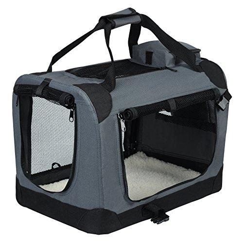 EUGAD Hundebox faltbar Hundetransportbox Auto Transportbox Reisebox Katzenbox...