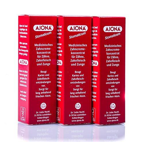 3x Ajona Medizinisches Zahncreme-Konzentrat für Zähne,Zahnfleisch und Zunge...
