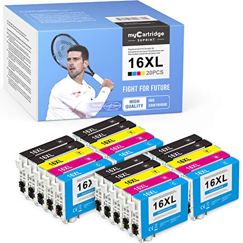 myCartridge SUPRINT 20 Druckerpatronen Kompatibel für Epson 16 16xl für Epson...