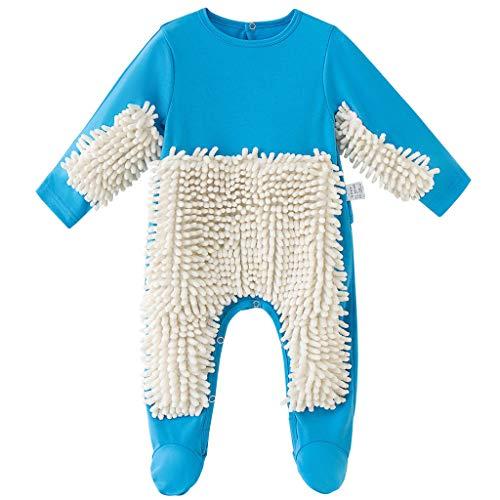 Baby Mopp Strampler Outfit Kleinkind Kriechen Overall Junge Mädchen Polituren...