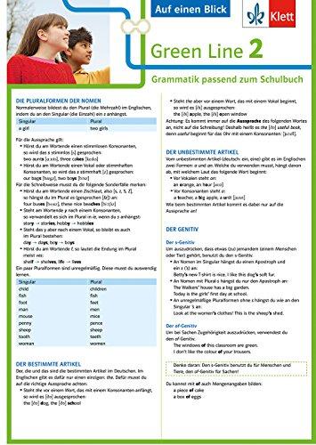 Klett Green Line 2 G8 Klasse 6 - Auf einen Blick: Grammatik passend zum...