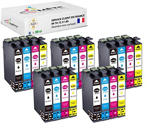Multipack 20 Druckerpatronen kompatibel mit Epson 16 XL 16XL für Drucker WF...