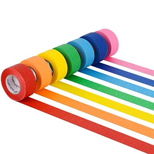 Skytogether 7 Rollen farbiges Malerkreppen-Set, buntes Malerband, dekoratives...