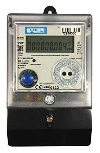 elektronischer Wechselstromzähler 5/40 A. MID Zulassung bzw. geeicht und für...