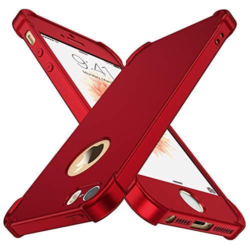 ORETECH iPhone 5S/5/SE Hülle, iPhone 5s Handyhülle mit [2X Panzerglasfoli]...