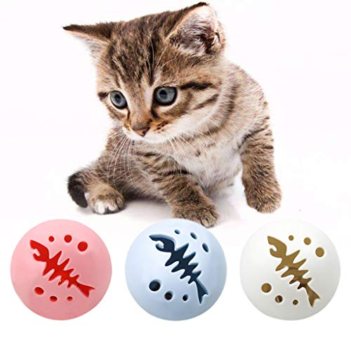 Lifet 3 Stück Snackball Katze 5cm, Cat Activity Snackball, Kauspielzeug...