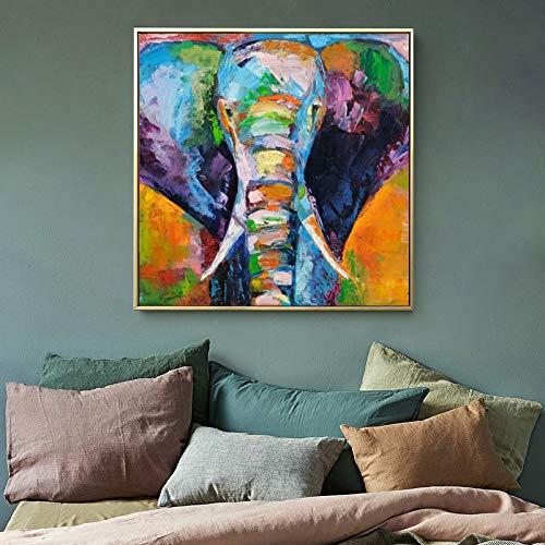 Geiqianjiumai Ölgemälde Tier Poster und Drucke Aquarell Elefant Leinwand Bild...