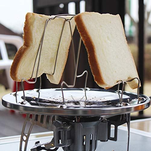 Unbekannt Backen Mcy Outdoor-Camping-Tools 4 Scheibe Edelstahl Camping Faltbare...