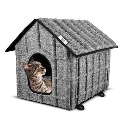 PUPPY KITTY Faltbares Katzenhaus für Katze & Hunde, Winterfest Katzenhöhle...