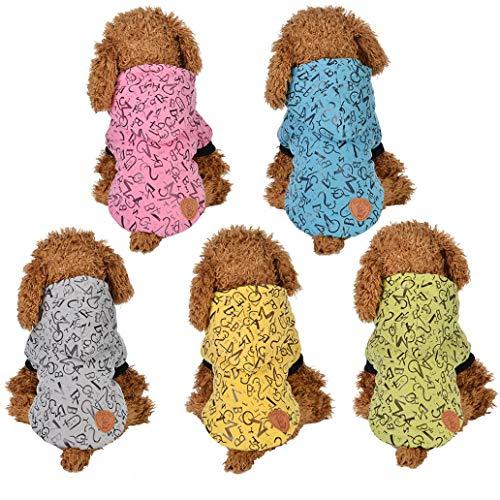 MoO1deer Hunde-/Katzen-Mantel mit Knöpfen und Kapuze, warm, für drinnen und...
