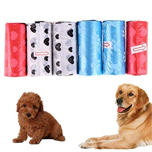 6 Rollen Haustier Hund Poop Tragetasche Biodegradable Doggy Müll Abfall-Taschen...
