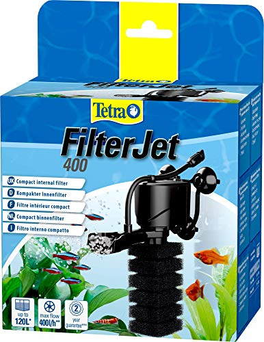 Tetra FilterJet 400, leistungsstarker Aquarium Innenfilter mit...