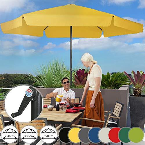 Sonnenschirm in Ø 2,5m / 3m / 3,5m - in Farbwahl, Wasserabweisender...