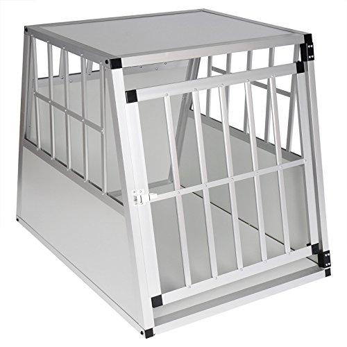 EUGAD Hundebox Transportbox Hundetransportbox Aluminium 1 Türig Reisebox...