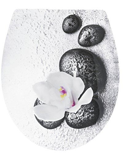 Cornat WC-Sitz 'Wet Stone' - Außergewöhnliche 3D-Relief Optik - Pflegeleichter...