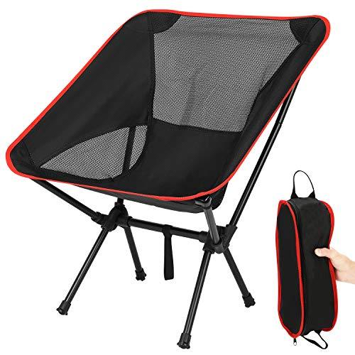 TXIN Klappbarer Campingstuhl -Faltbar Camping Kinder Erwachsene Stühle-Outdoor...
