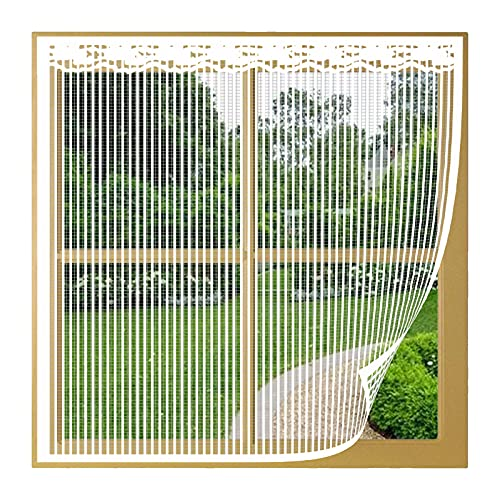 Fliegengitter Fenster Insektenschutz, 105x225cm(Weiß), Fliegenvorhang Ohne...