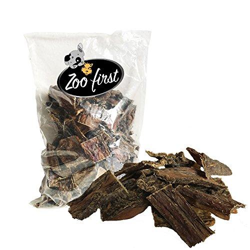 5 kg Rinderdörrfleisch Marke 'Zoofirst' Dörrfleisch Schlund Kausnack...