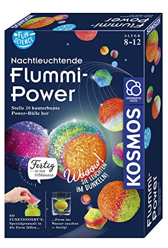 Kosmos 654108 Fun Science - Nachtleuchtende Flummi-Power, Stelle 20 kunterbunte...