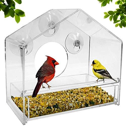 chunnron Vogelfutterspender Futterspender Wildvögel Lagerung von Vogelfutter...