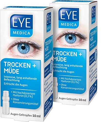 EyeMedica Trocken + Müde, Gel Augentropfen zur intensiven, lang anhaltenden...