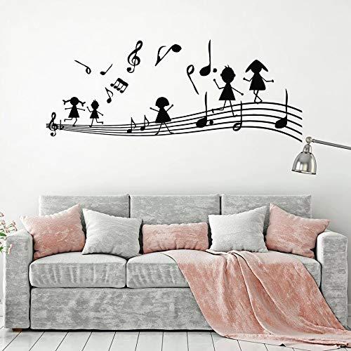 Tianpengyuanshuai Musiknote wandtattoo Musik schlüssel Kinder Schlafzimmer...
