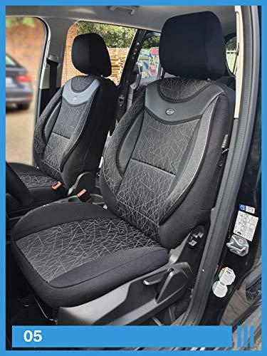 Maß Sitzbezüge kompatibel mit Ford Puma 2 Fahrer & Beifahrer ab 2019 FB:05