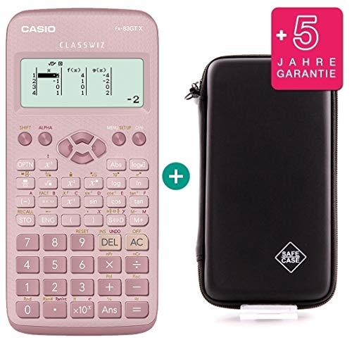 Casio FX-83GTX Pink + SafeCase Schutztasche + Garantieverlängerung auf 60...
