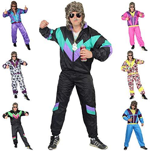 Foxxeo 80er Jahre Kostüm für Erwachsene Premium 80s Trainingsanzug Assianzug...