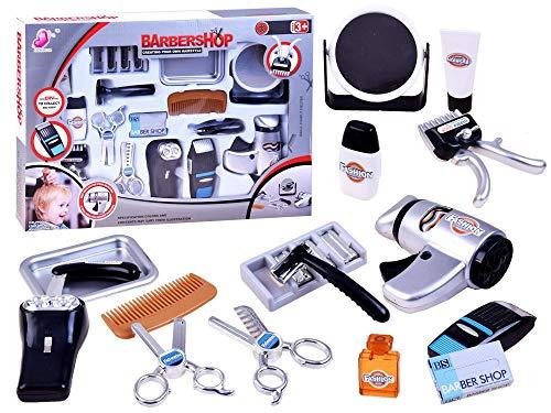BSD Kinder Rollenspiel - Barbershop Friseur Spielset - Haar Dresser Set mit...